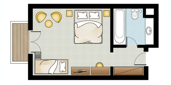 Family Guestroom Floorplan