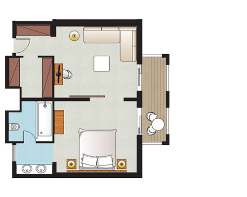 One-Bedroom Suite Floorplan